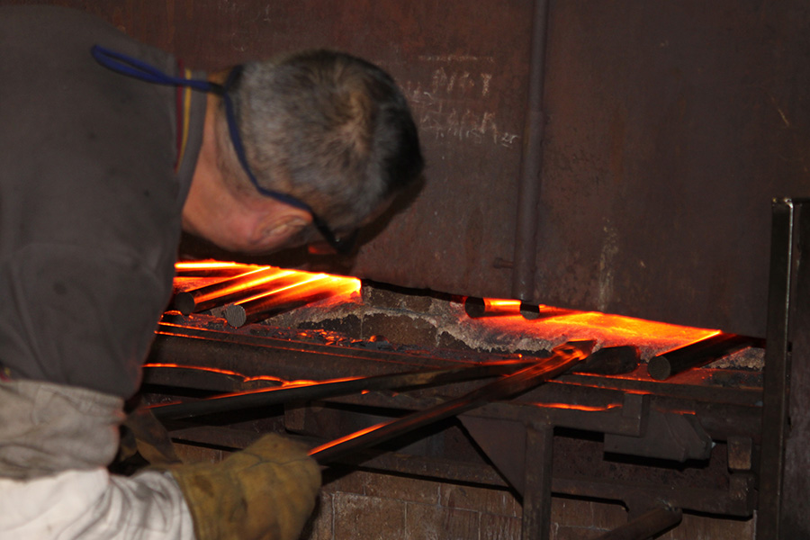 forging-heating the metal